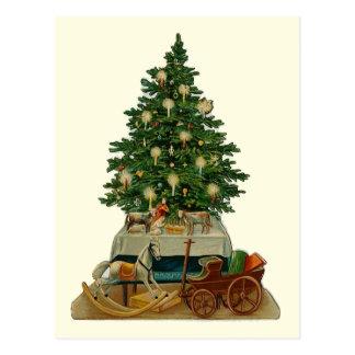 """Postal del vintage del """"árbol de navidad"""""""