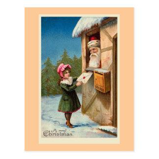 """""""Postal del vintage del correo del navidad"""" Postales"""