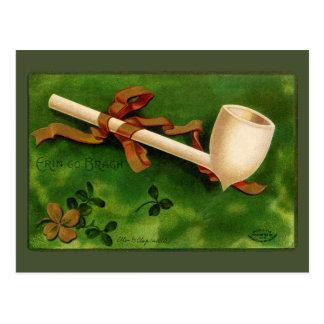 Postal del vintage del día de St Patrick irlandés