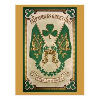 Postal del vintage del día del St. Patricks