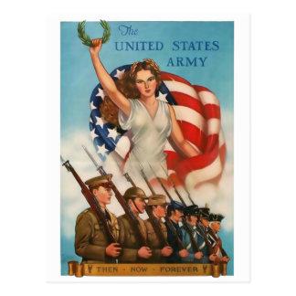 Postal del vintage del Ejército del EE. UU.