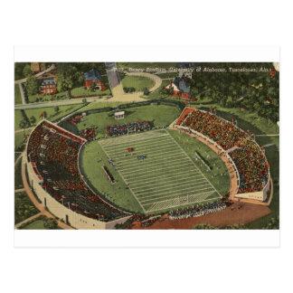 Postal del vintage del estadio de Alabama Denny