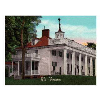 Postal del vintage del Monte Vernon
