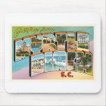Postal del vintage del SC de Myrtle Beach Carolina Alfombrilla De Raton