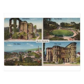 Postal del vintage del Trier del Alt