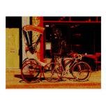 postal del vintage del velorickshaw