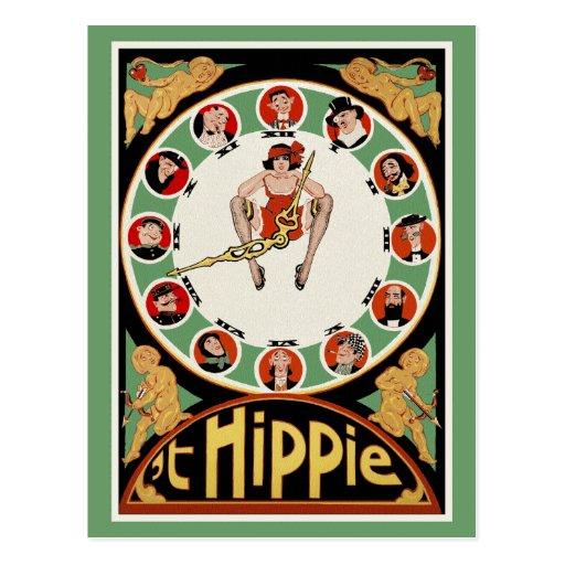 Postal del vintage:   'Hippie de t de C.