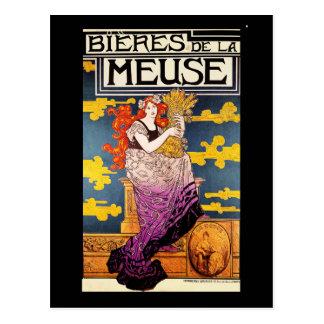 Postal del vintage:  La la Mosa de Bieres de