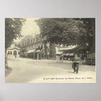 Postal del vintage - les Bains de Divonne, Póster