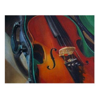 Postal del violín