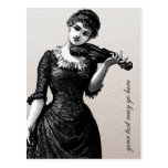 Postal del violinista del vintage