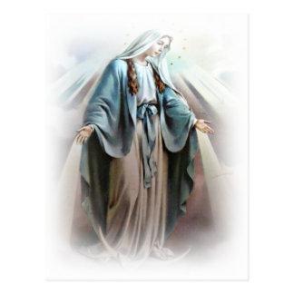 Postal del Virgen María
