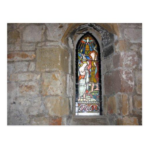 Postal del vitral de York de St Mary