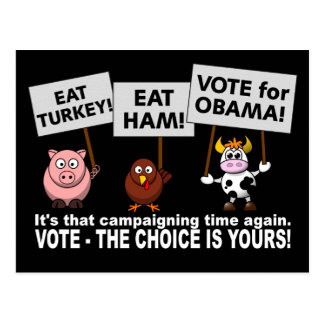 Postal del voto de Obama