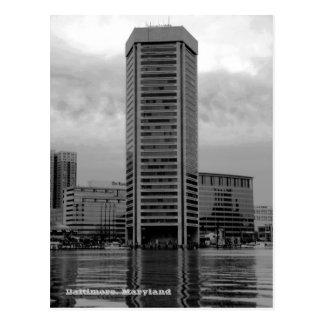 Postal del World Trade Center de Baltimore