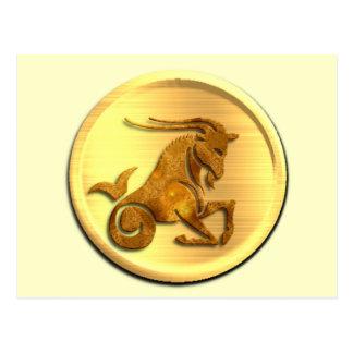 Postal del zodiaco del Capricornio