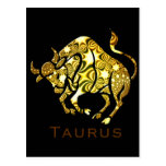 Postal del zodiaco del tauro