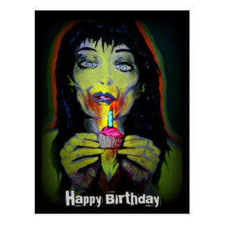 """""""Postal del zombi del cumpleaños"""""""