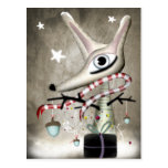 postal del zorro del Año Nuevo de la bellota del n