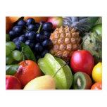 Postal deliciosa de las frutas