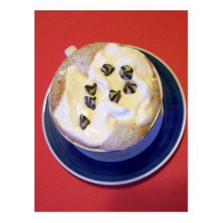 postal deliciosa del chocolate caliente