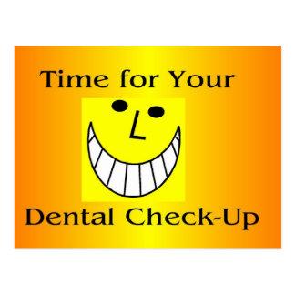 Postal dental del chequeo