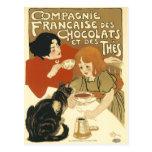 Postal: DES Chocolats de Compagnie Francaise Postales