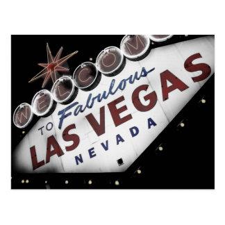 Postal descolorada de la muestra de Vegas