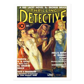 Postal detective de octubre de 1937 que emociona
