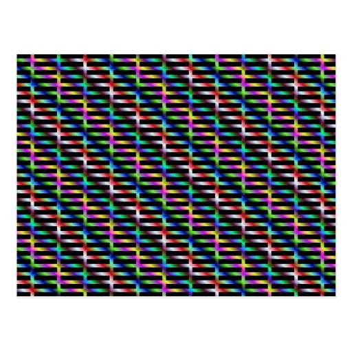 Postal diagonal de la rejilla del color