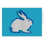 """postal digital de la pintura del """"conejo azul mari"""