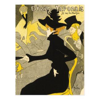 Postal: Diván Japonais por Toulouse-Lautrec