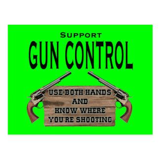 Postal divertida #1 del control de armas