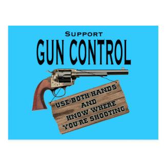 Postal divertida #2 del control de armas