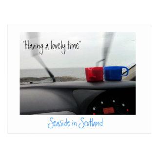 Postal divertida de Escocia