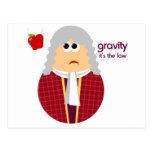 Postal divertida de Isaac Newton