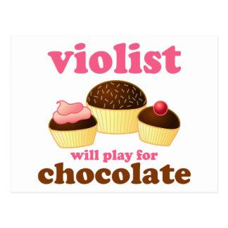 Postal divertida de la música del Violist