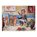 Postal divertida de los gatos: El Puss travieso