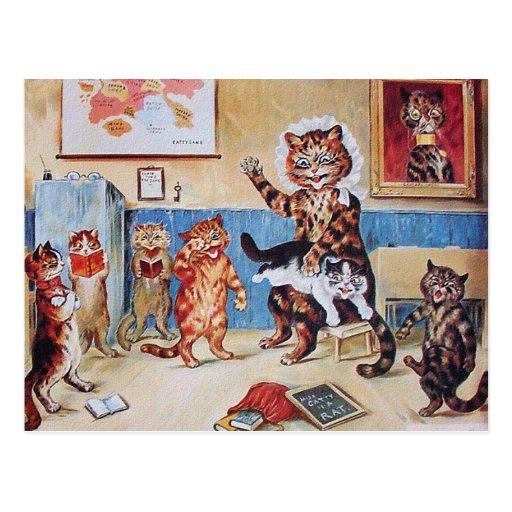 Postal divertida de los gatos: El Puss travieso po