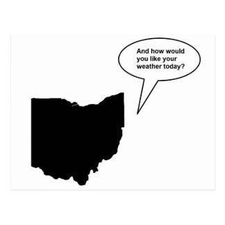Postal divertida de Ohio