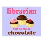 Postal divertida del bibliotecario