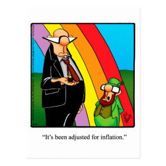 Postal divertida del humor de la inflación