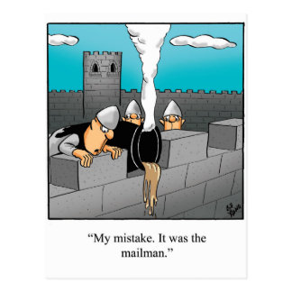 Postal divertida del humor que permanece en