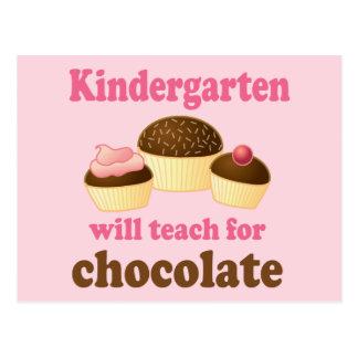 Postal divertida del maestro de jardín de infancia