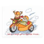 Postal divertida del navidad: El trineo de Santa a