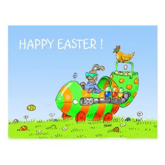 postal divertida del tanque del huevo de Pascua