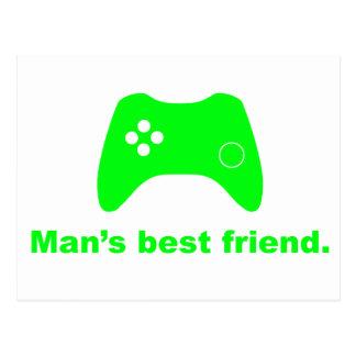 Postal divertida del videojugador del mejor amigo
