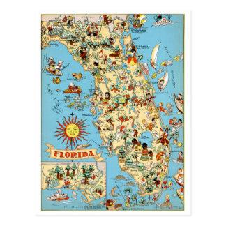 Postal divertida del vintage de la Florida