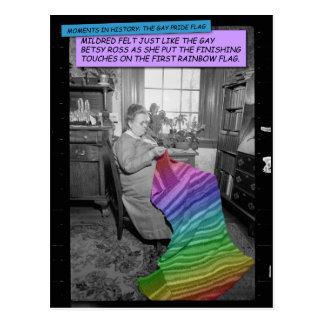 Postal divertida - Mildred, Betsy Ross gay