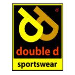 Postal doble de la ropa de deportes de D